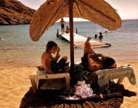 Noel de Rooij aan het strand
